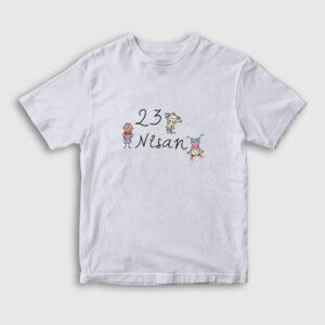 23 Nisan Çocuk Tişört beyaz