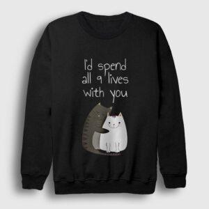 9 Can Sweatshirt siyah