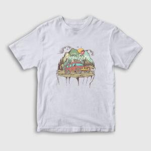 Adventure Çocuk Tişört beyaz