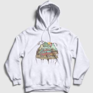 Adventure Kapşonlu Sweatshirt beyaz
