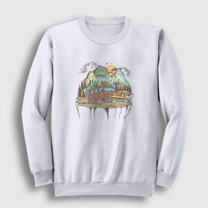 Adventure Sweatshirt beyaz