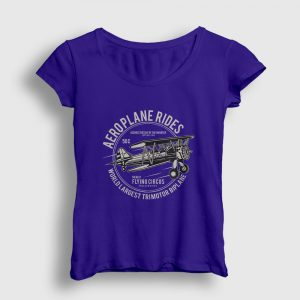 Aeroplane Rides Kadın Tişört lacivert