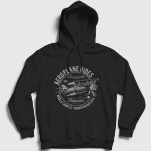 Aeroplane Rides Kapşonlu Sweatshirt siyah