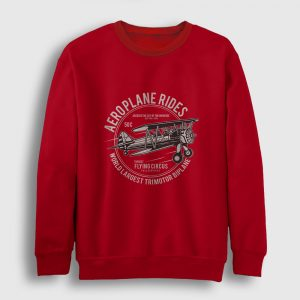 Aeroplane Rides Sweatshirt kırmızı