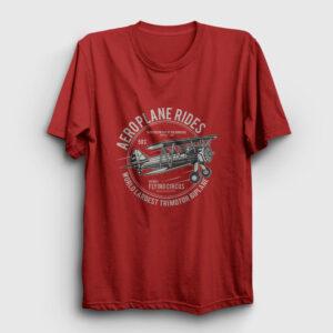 Aeroplane Rides Tişört kırmızı