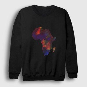 Afrika Kıta Sweatshirt siyah