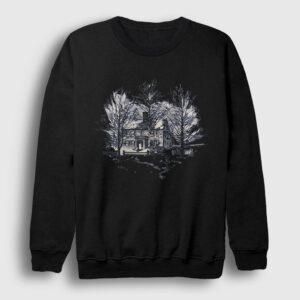 Ağaçlar ve Ev Sweatshirt siyah