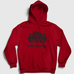 Aksaray Kapşonlu Sweatshirt kırmızı