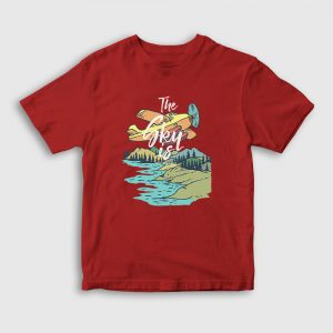 Alaska Çocuk Tişört kırmızı