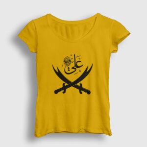 Alevi Kadın Tişört sarı