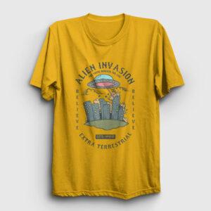 Alien Attack Tişört sarı