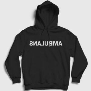 Ambulans Kapşonlu Sweatshirt siyah