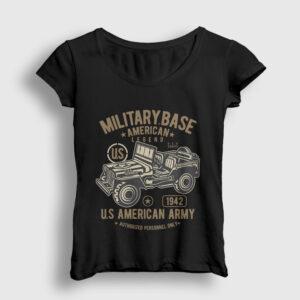 American Army Kadın Tişört siyah