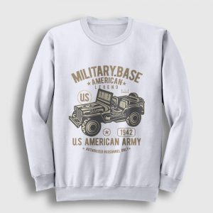 American Army Sweatshirt beyaz