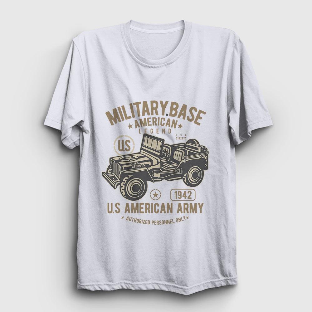 american army tişört beyaz