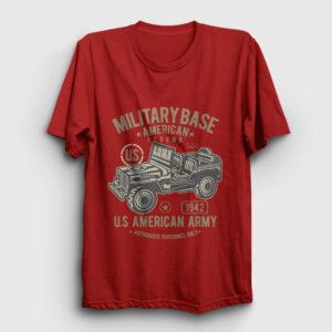 American Army Tişört kırmızı