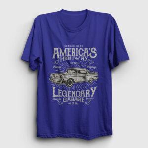 America's Highway Tişört lacivert