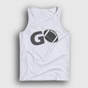 Amerikan Futbolu Go Atlet beyaz