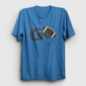 Amerikan Futbolu Go Tişört açık mavi