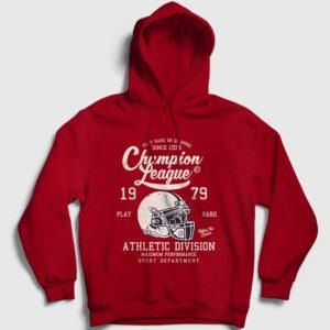 Amerikan Futbolu Şampiyonlar Ligi Kapşonlu Sweatshirt kırmızı
