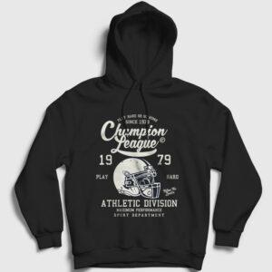 Amerikan Futbolu Şampiyonlar Ligi Kapşonlu Sweatshirt siyah
