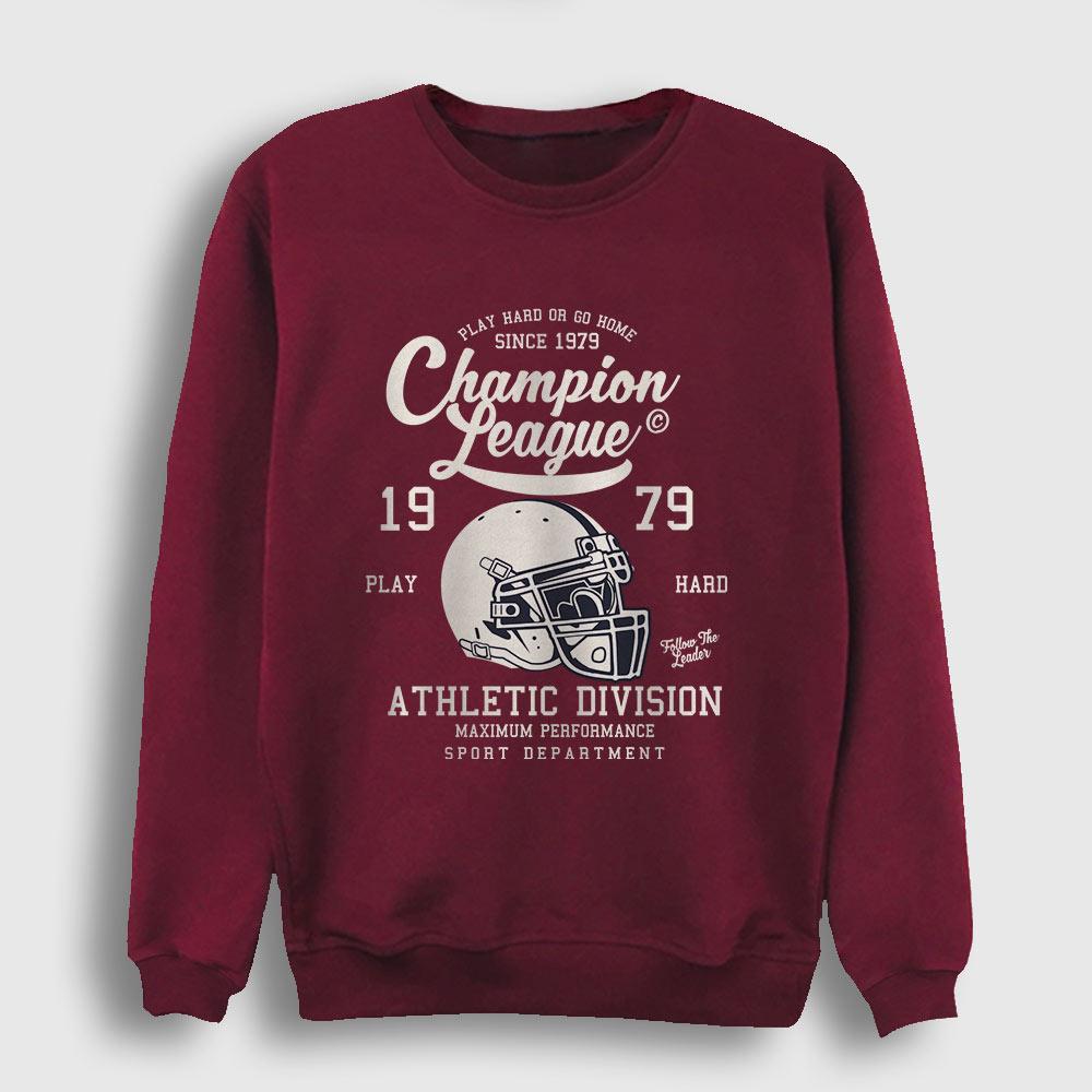 Amerikan Futbolu Şampiyonlar Ligi Sweatshirt bordo