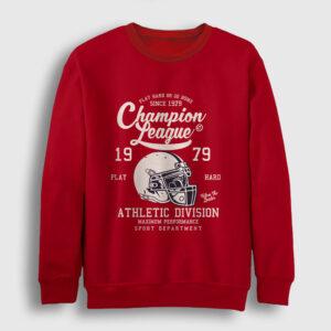 Amerikan Futbolu Şampiyonlar Ligi Sweatshirt kırmızı
