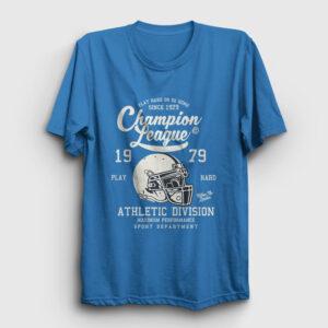 Amerikan Futbolu Şampiyonlar Ligi Tişört açık mavi
