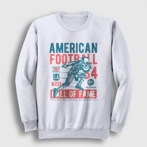 Amerikan Futbolu Sweatshirt - Hall of Fame beyaz