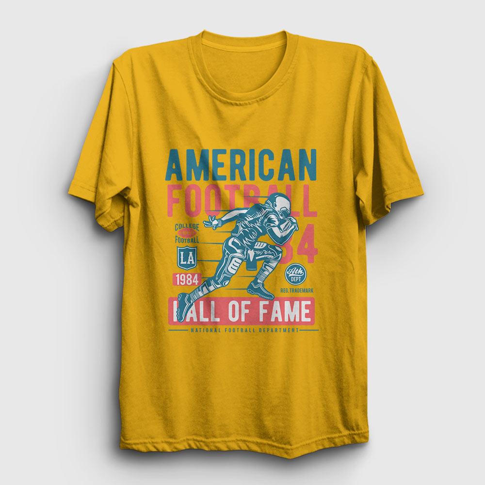 amerikan futbolu tişört hall of fame sarı