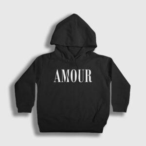 Amour Çocuk Kapşonlu Sweatshirt siyah