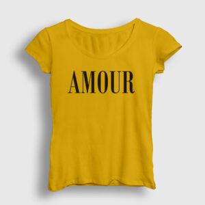 Amour Kadın Tişört sarı
