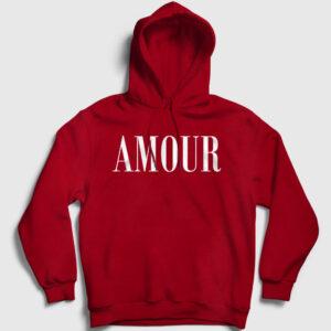 Amour Kapşonlu Sweatshirt kırmızı