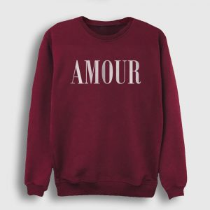 Amour Sweatshirt bordo