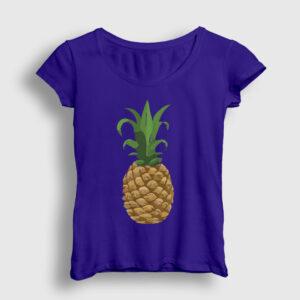 Ananaslı Kadın Tişört lacivert