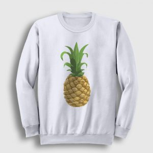 Ananaslı Sweatshirt beyaz