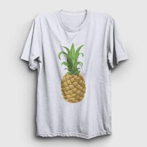 Ananaslı Tişört beyaz