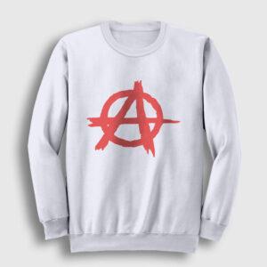 Anarşi Sweatshirt beyaz