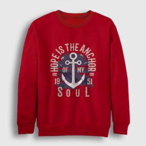 Anchor of my Soul Sweatshirt kırmızı
