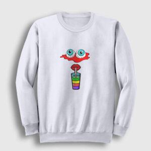 Animasyon Sweatshirt beyaz