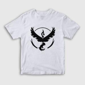 Anka Kuşu Çocuk Tişört beyaz