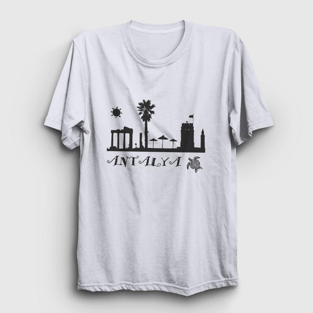 antalya tişört beyaz