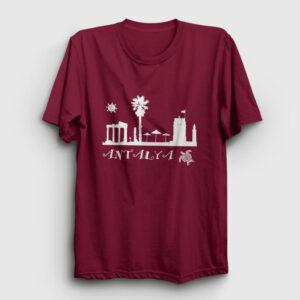 Antalya Tişört bordo