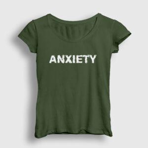 Anxiety Kadın Tişört haki