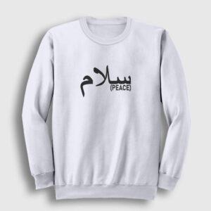 Arapça Barış Sweatshirt beyaz
