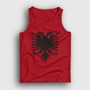 Arnavutluk Bayrağı Atlet kırmızı
