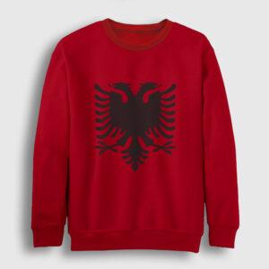 Arnavutluk Bayrağı Sweatshirt kırmızı