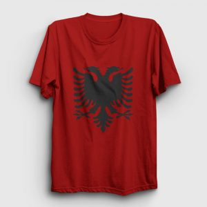 Arnavutluk Bayrağı Tişört kırmızı