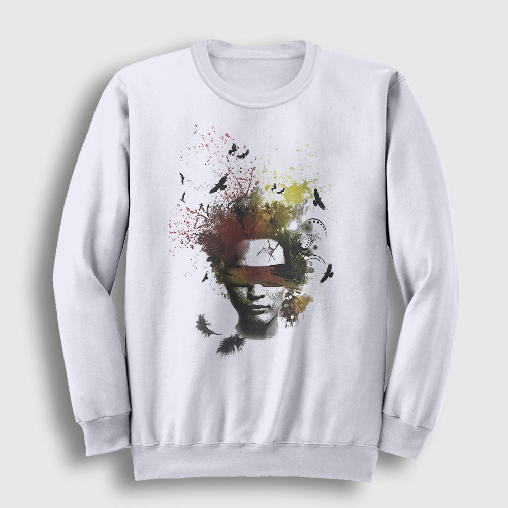 Art in My Head Sweatshirt beyaz