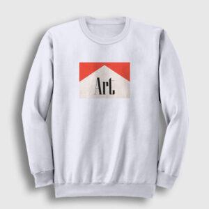 Art Sweatshirt beyaz